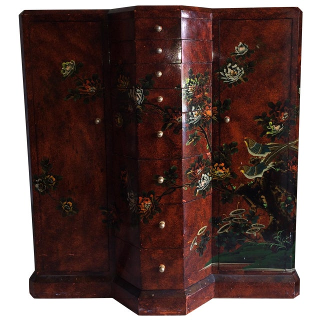 Red Asian Cabinet - Image 1 of 9