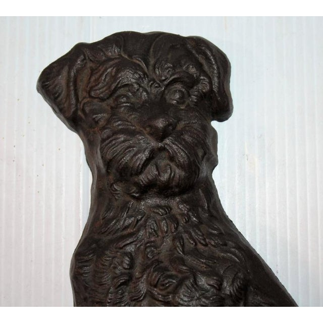 Monumental 19Thc Cast Iron Dog - Image 1 of 5