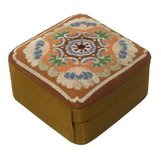 Silk Needlepoint Jewel / Trinket Box