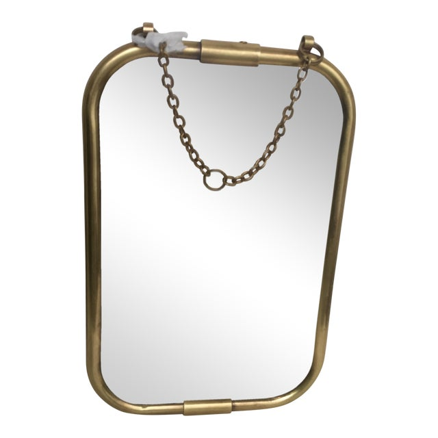 Art Deco Brass Mirror - Image 1 of 5