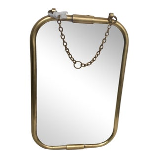 Art Deco Brass Mirror
