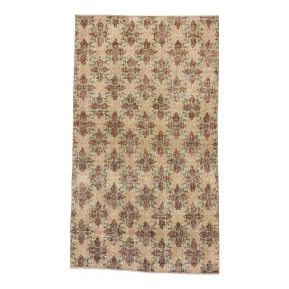 Vintage Floral Turkish Rug - 4′8″ × 8′
