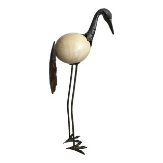 Ostrich Egg Bird Sculpture