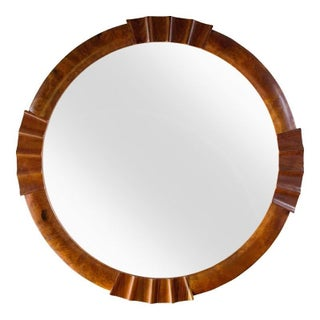Round Nautical Wood Mirror