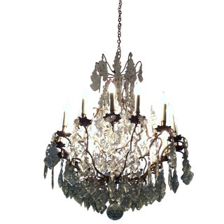 1950's Antique French Crystal Chandelier