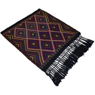 Turkish Hand Woven Kilim Rug/Braided Wall Hanging - 3′2″ X 3′5″