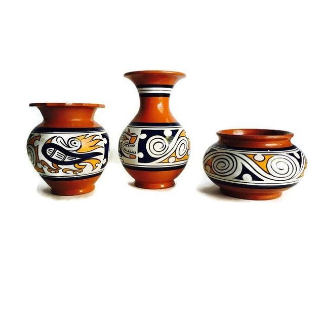 Image of Vintage Panama Tribal Pottery - Set of 3