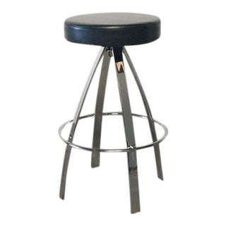Round Chrome Frame Counter Stool