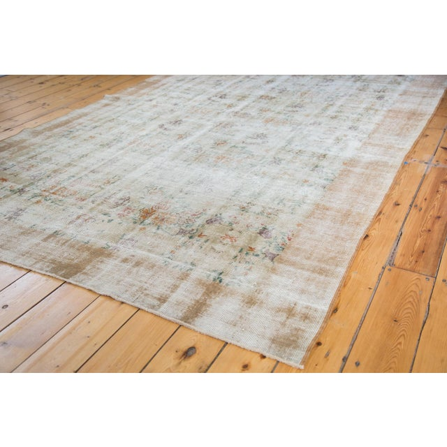 """60s Distressed Floral Oushak Rug - 6'3"""" x 10'2"""" - Image 5 of 7"""