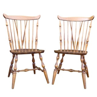 Vintage Swedish Windsor Side Chairs - A Pair