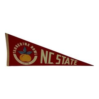 """Vintage 1978 NCAA """"NC State"""" Pennant Flag"""