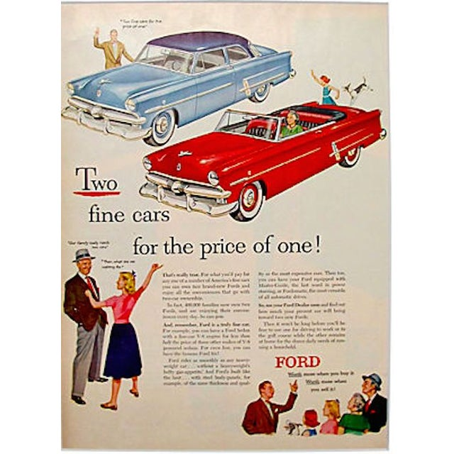 Image of 1960s Ford Matted Advertisement