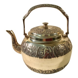 Vintage Zodiac Brass Tea Kettle