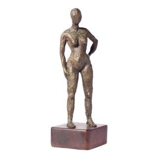 Mid-Century Bronze Nude Sculpture