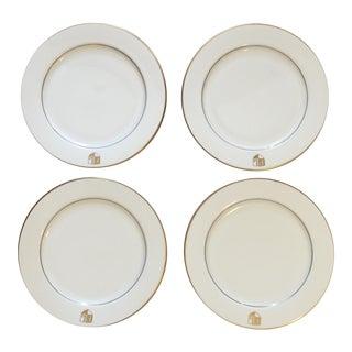 Homer Laughlin China Monogramed Dinner Plates - 4