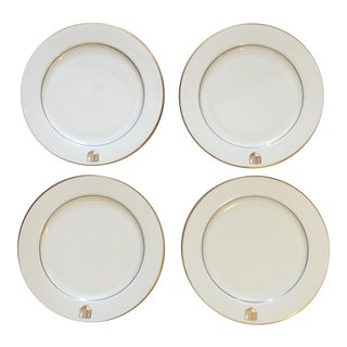 Homer Laughlin China Monogramed Dinner Plates - 4