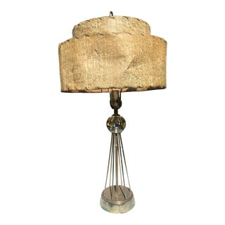 Mid Century Table Lamp With Original Shade