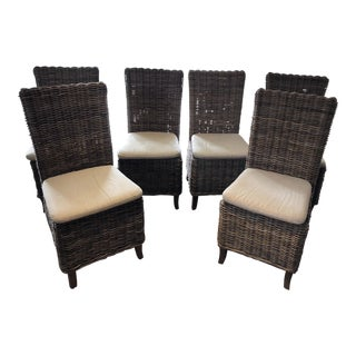 Restoration Hardware Wicker Dining Chairs - Set of 6