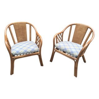 Rattan Armchairs - A Pair