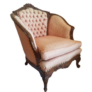 French Provincial Bergere Parlour Chair