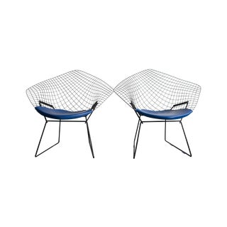 Knoll Bertoia Black Diamond Chairs- Pair