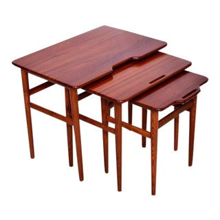 Danish Modern Teak Nesting Tables - Set of Three