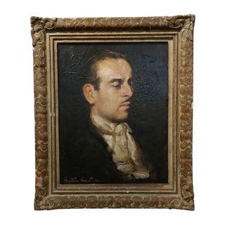 Benton Scott 1942 Portrait of Gentleman Original Oil Painting