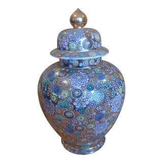 Chinese Hand Painted Porcelain Ginger Jar Urn