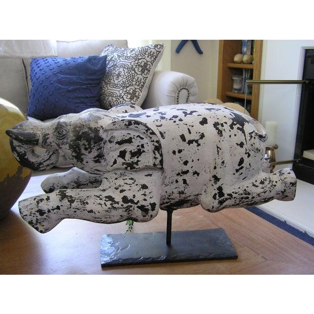 Vintage Reclining Elephant - Image 2 of 7