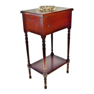 Vintage 1920's Ferguson Brothers Manufacturing Porcelain Lined Humidor Smoking Stand