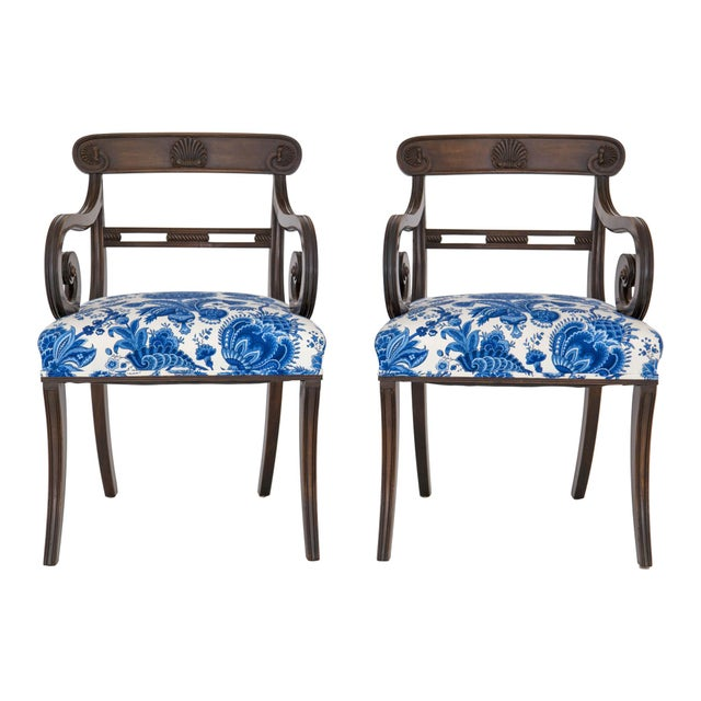 English Regency Carved Armchairs - A Pair - Image 4 of 10