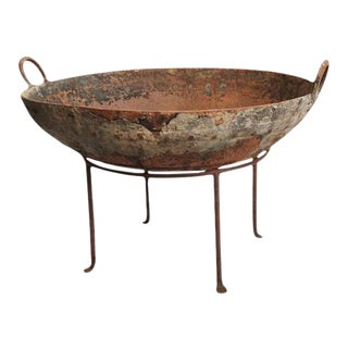 Rustic Primitive Iron Kadai Fire Bowl