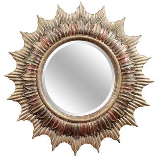 Large Polychrome Sunburst Mirror
