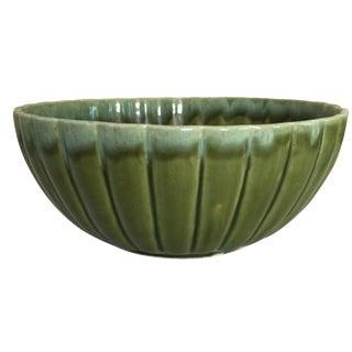 Mid-Century Drip Glaze Pottery Bowl