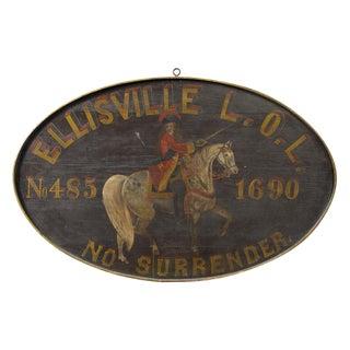 Fraternal Lodge Sign
