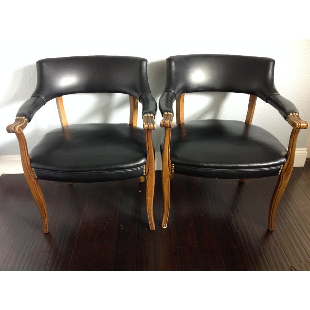 Mid-Century Style Black Armchairs - A Pair - Image 2 of 11