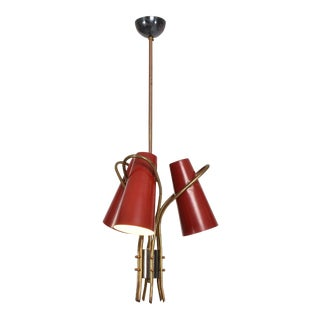 Mid-Century Modern French Chandelier In the Style of Pierre Guariche