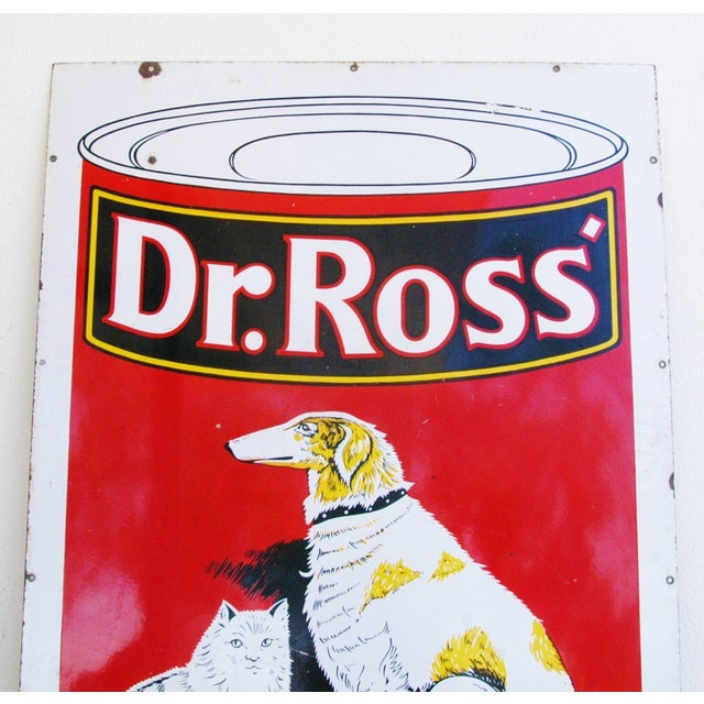 1930s Dr. Ross Dog & Cat Food Advertising Sign - Image 3 of 8