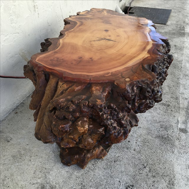 Live Edge Wooden Coffee Table - Image 5 of 11