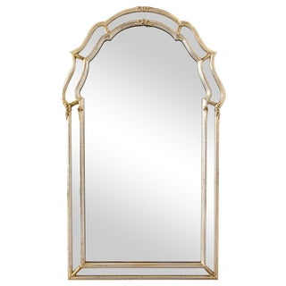 Silvered Arched Mirror with Mirror Frame by La Barge