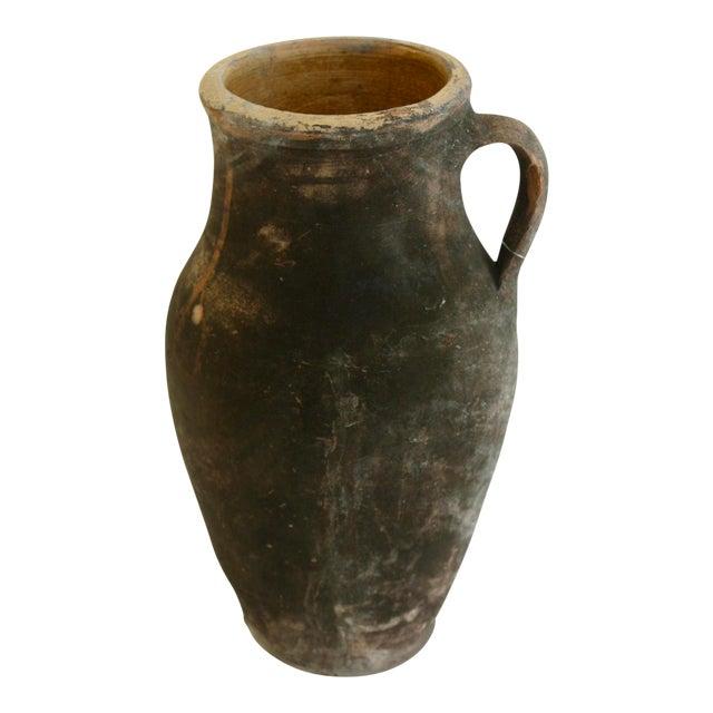 Antique Turkish Ochre Oil Pot - Image 1 of 4