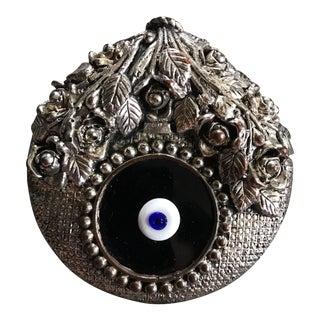 Vintage Sterling Silver Evil Eye Amulet Wall Hanging