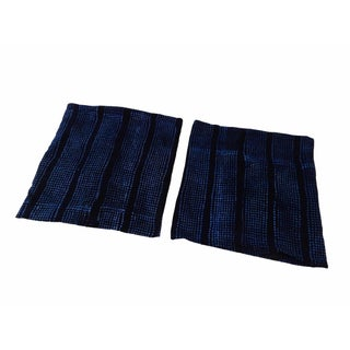 Malian Indigo Mud Cloth Textiles - A Pair
