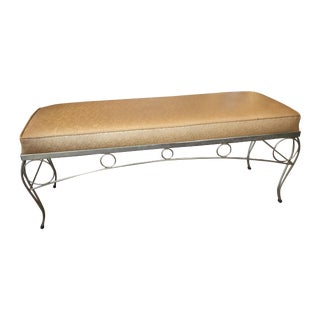 Gold Bling Vogue 60s Stamped Vinyl Gold Bench