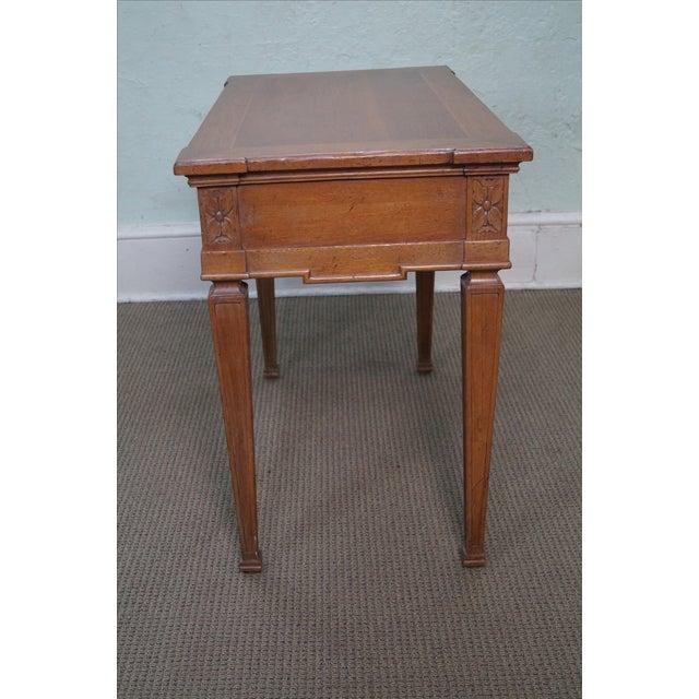 Image of Vintage Italian Style Walnut Console Table