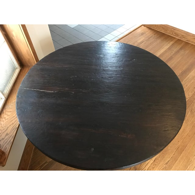 Rustic Reclaimed Elm Plank Dining Table - Image 3 of 4
