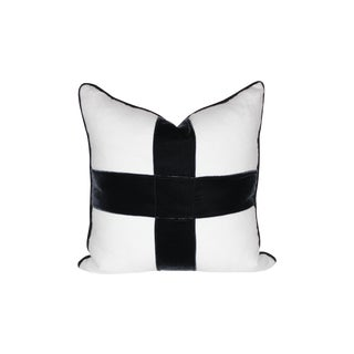 Indigo Velvet Cross Pillow