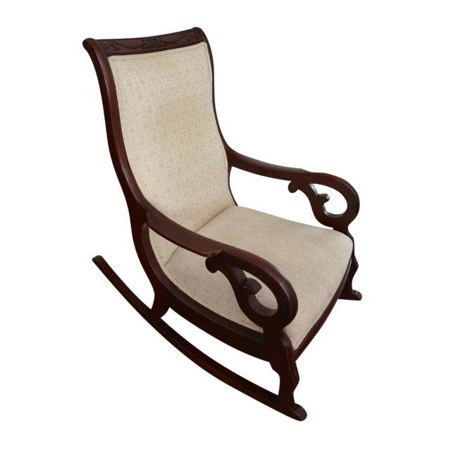 Antique Victorian Mahogany Rocking Chair