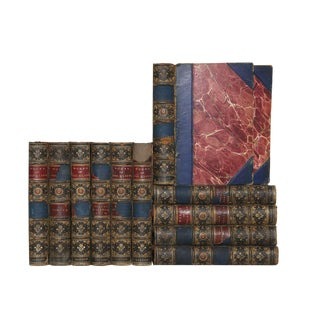 Distressed Leather Classics: Works of George Eliot, S/12