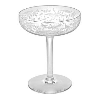 1940s Fostoria Crystal Pedestal Bowl